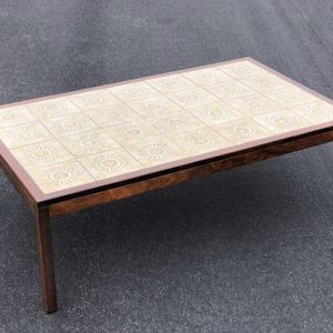 Coffee Table - Mid Century Modern Tile Top With Rosewood for Sale in Newport Beach, CA