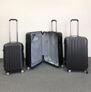 """(New in box) $95 Black 3pcs Luggage Travel Set Bag ABS Trolley Rolling Wheels Suitcase 20"""" 24"""" 28"""" for Sale in Whittier, CA"""