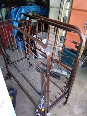 Roll away bed frame with attached headboard for Sale in Aberdeen, WA