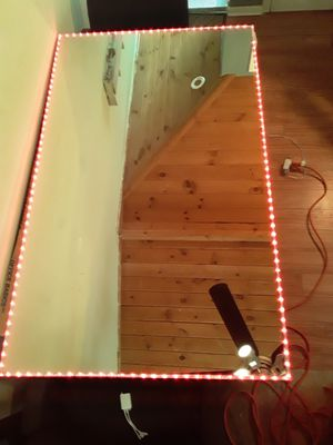 Wall sized backlit multi colored LED Mirror for Sale in Horsham, PA