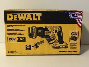 DEWALT 20v XR CORDLESS COMPACT RECIPROCATING SAW ZALL WITH 3.0AH BATTERY AND CHARGER for Sale in San Bernardino, CA