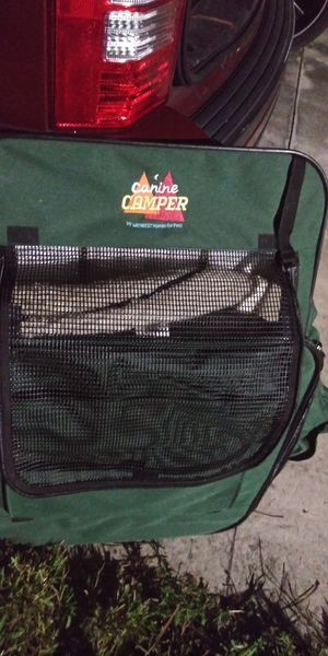 Canine camper great for larger animals nice soft inside for them used1time 18dol firm paid 140this lots gd deals my post go look for Sale in Jupiter, FL