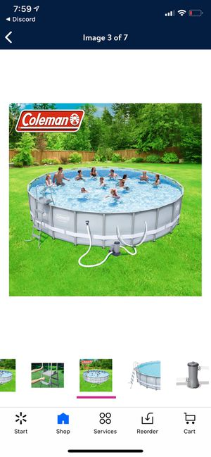 Coleman 22ft x 52inches deep huge beautiful above ground swimming pool brand new for Sale in Alhambra, CA
