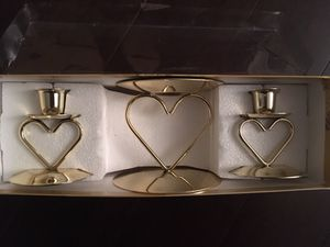 Candles holder , heart theme for Sale in Brooklyn, NY