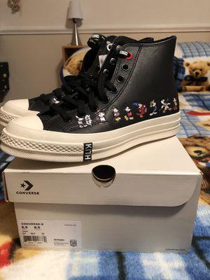Kith x Disney Converse Chuck 70 Size 6.5 Black for Sale in Hillsborough, CA