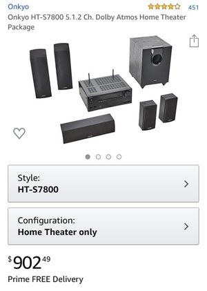 Onkyo HT-S7800 5.1.2 home theater system for Sale in Munroe Falls, OH