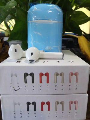 i7S Wireless Bluetooth Earphones Headphone Earbuds For Apple iPhone With Charging Box Universal 5 Different Colors WHITE/BLACK/RED/GOLD/PINK for Sale in Attleboro, MA