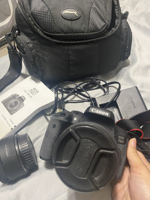 Canon t6i with bundle and lenses (PRICE IS FIRM) for Sale in Severn, MD
