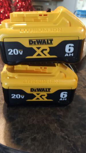 DeWalt 6 a h 20 volt batteries for Sale in Kissimmee, FL