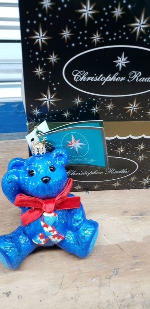 Christopher Radko. Ornament Little bear blue(Autism awareness) originally $57 for Sale in Webster, TX