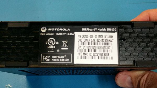 Motorola Surfboard SB6120 Cable Modem (DOCSIS 3.0!)