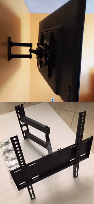 New in box universal 22 to 55 inch swivel extending full motion tv television wall mount bracket single arm for Sale in San Dimas, CA