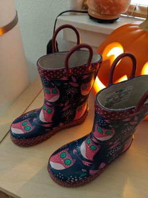 Kids rain boots size 7 for Sale in Oak Grove, OR