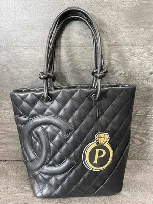 Chanel black combon leather bag for Sale in Portland, OR
