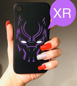 Brand new cool iphone XR case cover rubber black panther mens guys hypebeast hype swag marvel for Sale in San Bernardino, CA