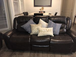 2 PC Brown Leather Sofa Set for Sale in Orlando, FL