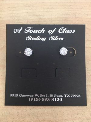 925 Silver AAA CZ Earrings for Sale in El Paso, TX