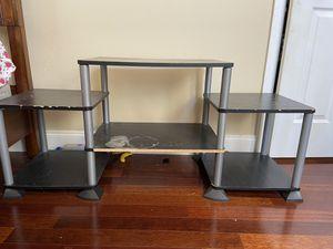 Black Entertainment center table nightstand organizer shelf 3 pier for Sale in Tampa, FL