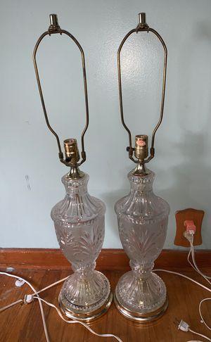 2 crystal lamps for Sale in Frostproof, FL