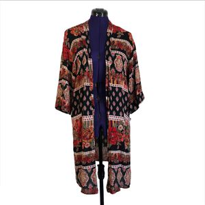 Love Culture Red Black Patterned Kimono Cardigan Sweater for Sale in Las Vegas, NV