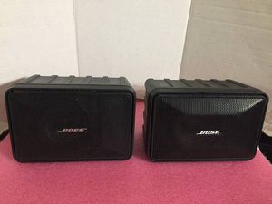 SET OF 2 BOSE MODEL 101 MUSIC MONITOR STEREO OUTDOOR/INDOOR SPEAKERS for Sale in San Jose, CA