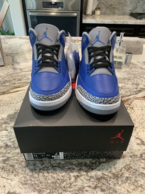 Air Jordan 3 blue cement varsity royal size 11 for Sale in Clovis, CA
