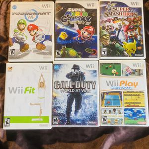 Wii Video Game Lot. Just Tested (Mario Kart Etc) for Sale in San Diego, CA