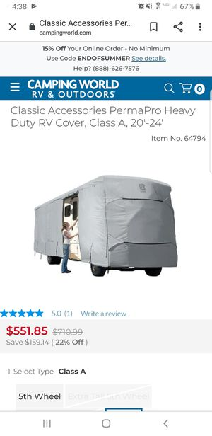 Classic Accessories PermaPro Heavy Duty RV Cover for 33' to 37' Extra Tall Class A RVs for Sale in Aloha, OR