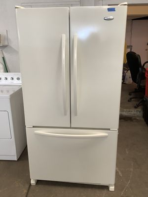 Whirlpool French Style Refrigerator Pre Owned Home Kitchen Appliance for Sale in Tampa, FL