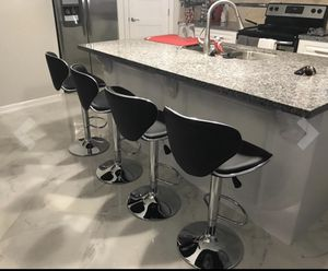 Brand new adjustable bar stools chairs in box 📦 2 for 120.. 4 for 240 black red for Sale in Hollywood, FL
