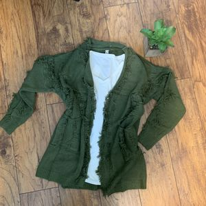 Fringed green cardigan for Sale in Santa Maria, CA