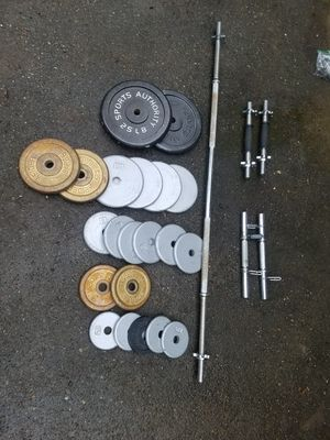 Standard weights and barbell for Sale in Normandy Park, WA