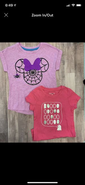 Girls Cat and jack Halloween shirts 5t for Sale in Pomona, CA