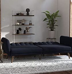 Futon Brand new Adjustable Back Sleeping Couch Sofa Navy Blue for Sale in Glendale,  AZ