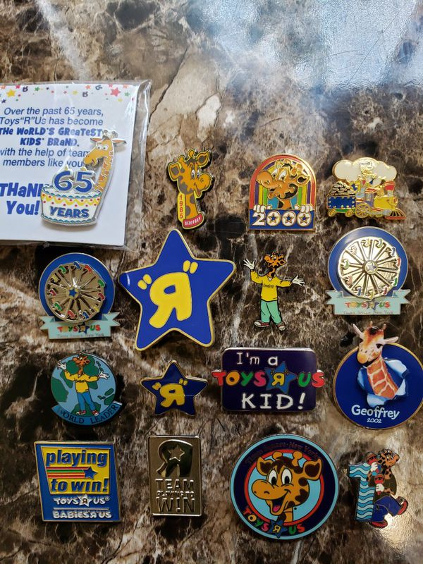 Lot of Toys R Us Employee Pins