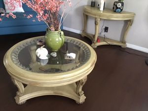 Set of 3 beautiful coffee table, side table, and console including 3 candle holder selling all for $140 OBO for Sale in Lynwood, CA