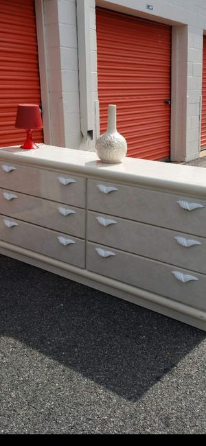 WHITE DRESSER WITH BIG DRAWERS DRAWERS SLIDING SMOOTHLY GOOD CONDITION for Sale in Fairfax, VA