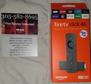 Amazon fire tv stick 4k 🔓🔓🔓 for Sale in HALLANDLE BCH, FL