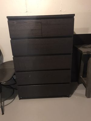 IKEA 6 drawer dresser- Espresso for Sale in Foxborough, MA