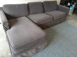 Great Crate & Barrell sectional couch for Sale in Renton, WA