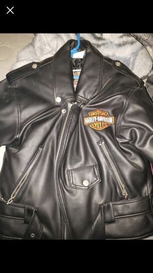 Youth small Harley davdsion coat real leather for Sale in Quincy, IL