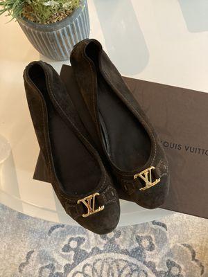Authentic LOUIS VUITTON flats Dark Brown / Espresso size 10 US / 40 EU Women for Sale in SUNNY ISL BCH, FL