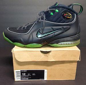 Nike Air Penny Hardaway 1/2 Half Cent Sz 12 Black Green 344646-002 for Sale in Augusta, GA