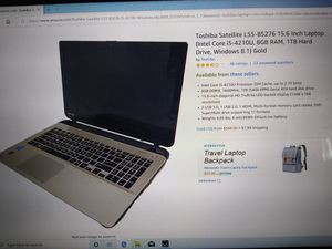 Toshiba satellites laptop for Sale in Madera, CA