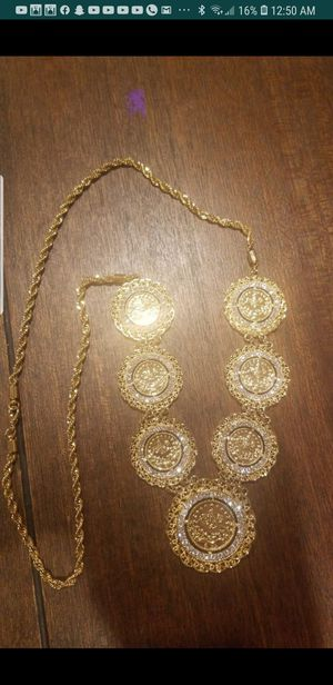 Plated gold coins chain for Sale in Dearborn Heights, MI