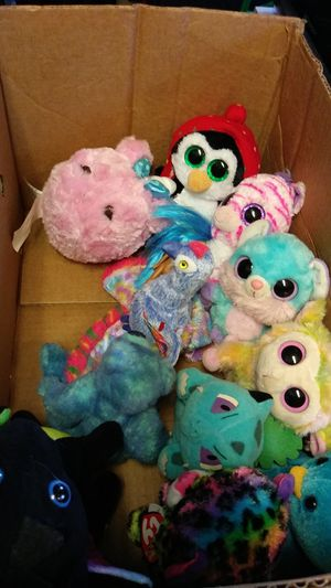Ty stuffed animals a bubble star and also a num Noms stuffed animals for Sale in Salem, OR