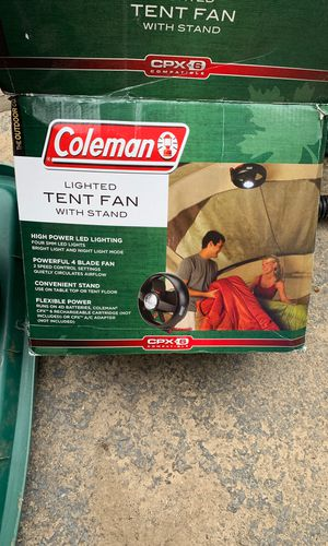 Coleman lighted tent fan with stand and magnet clip for Sale in Naugatuck, CT
