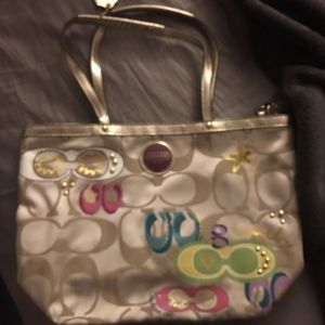 Limited edition gold coach purse for Sale in Fort Lauderdale, FL