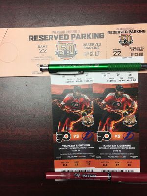 Flyers Tickets!!! Great seats! for Sale in Croydon, PA