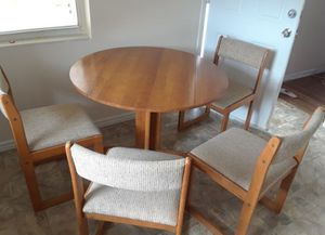 Wooden Dining Table with 4 Chairs for Sale in Sebring, FL